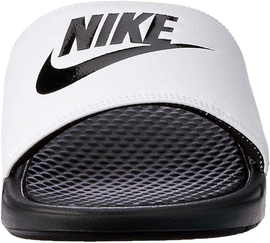 Nike Benassi Jdi, Chanclas Unisex Adulto, Multicolor (White/Black/Black), 41 EU