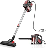INSE Vacuum Cleaner Corded Stick, Powerful Suction, Extention Wand, Handheld Vacumes for Hardwood Floor Carpet Pet Hair 18KPA