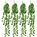 RERXN 4 Bunchs Artificial Ivy Vine Greenery Fake Hanging Plant Leaves for Indoor Outdoor Decor