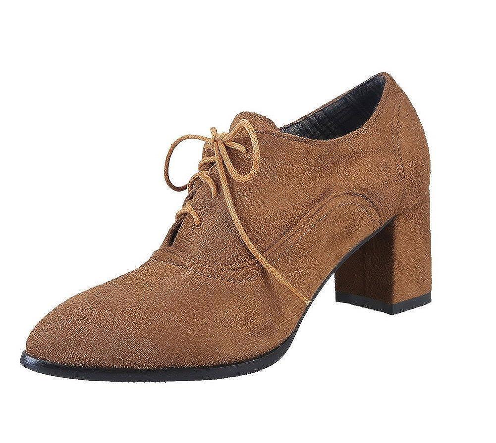 AgeeMi schuhe Damen Schnüren Mittler Absatz Schließen Zehe Pumps Schuhe Schuhe Schuhe 048aa5