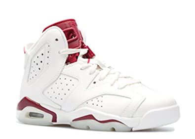 6113d6462fbe35 Nike Air Jordan 6 Retro OG BG 836342-115 Off White Maroon Kids Basketball