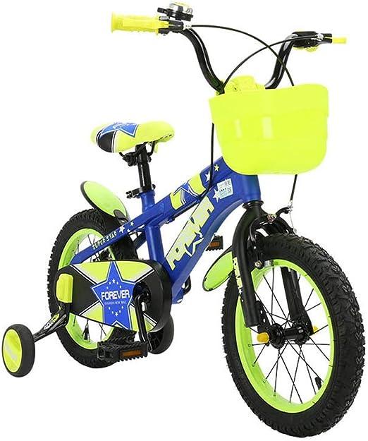 DT Bicicleta Amarilla para niños 2-3-4-6-7-8-9-10 años Bebé 12 ...