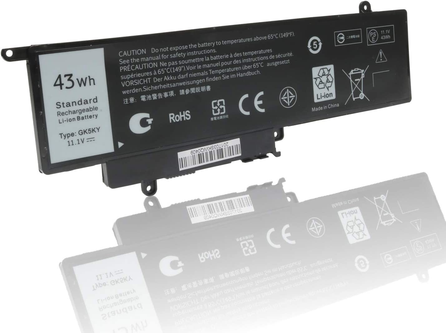 GK5KY 11-3157 Battery Replacement for Dell Inspiron 11 3147 3148 3152 13 7353 7352 7347 7348 7359 15 7558 7568 Series, 04K8YH 092NCT 92NCT 4K8YH P20T 451-BBKK 451-BBPG RHN1C 0WF28 11.1V 43Wh