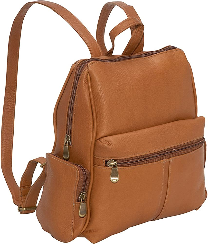 Le Donne Leather Zip Around Backpack Purse