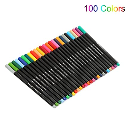 Amazon.com : SODIAL 100 Colors Premium Painting Pen Watercolor ...