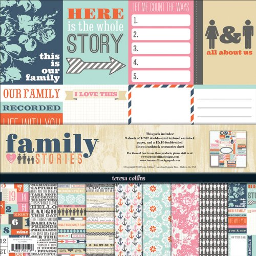 Price comparison product image Teresa Collins Family Stories Collection Pack, 12 b y12-Inch