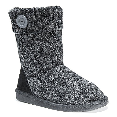 Ankle Janet & Boots - MUK LUKS Women's Janet Sweater Boot,Black,US 10 M