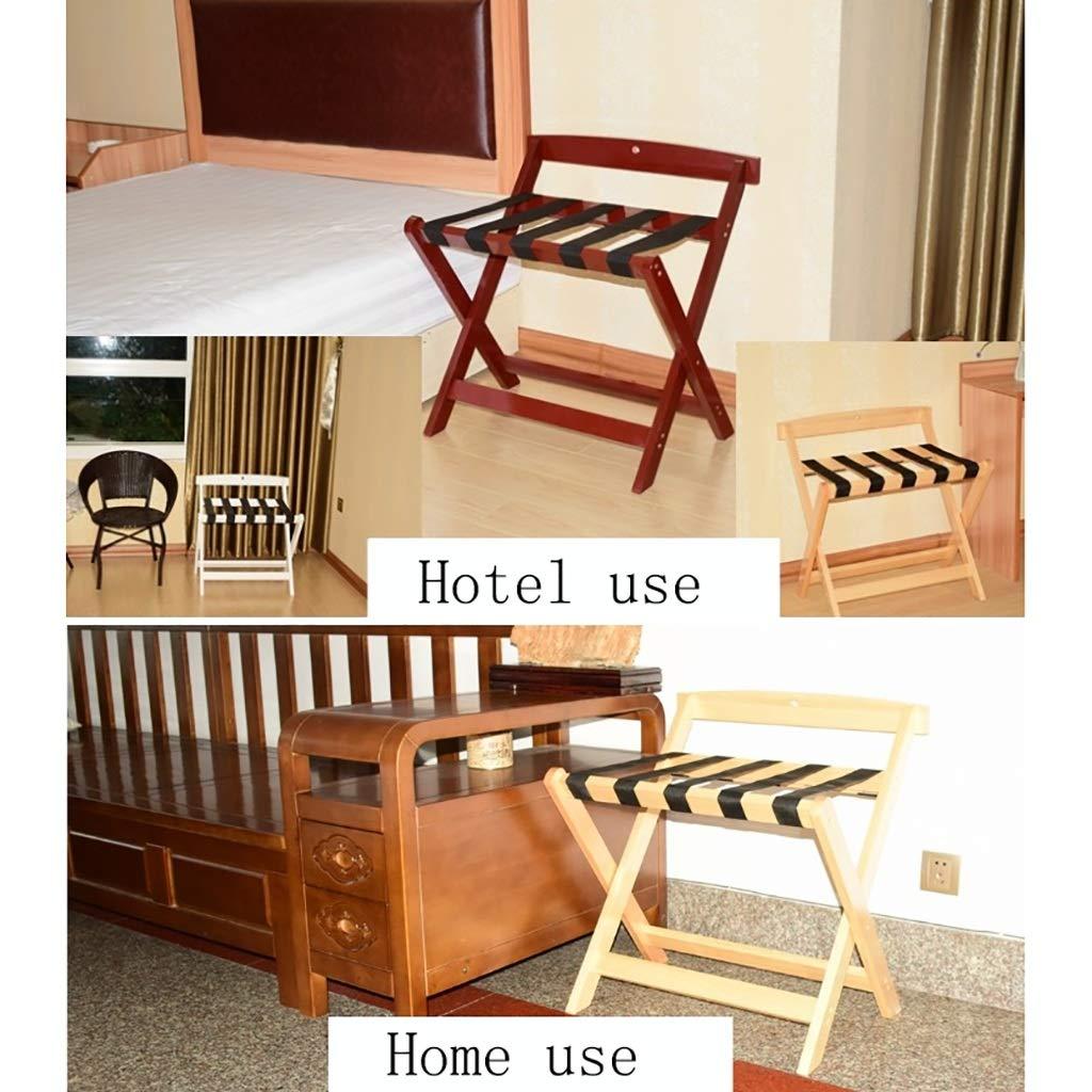 CHAOYANG Kofferständer Massivholz Gepäckträger Hotel Gepäckträger Haushalt Klapp Lagerregal Schwarz Schwarz Schwarz Fünf Stile. (größe   A) B07MR6113T Kofferstnder 08608e