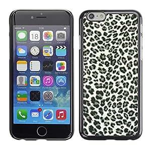 TECHCASE**Cubierta de la caja de protección la piel dura para el ** Apple iPhone 6 Plus 5.5 ** Leopard Spots Pattern Black White Fur Bling Posh