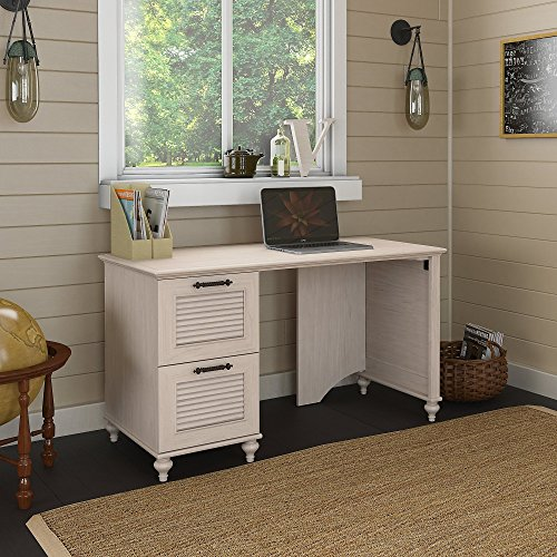 kathy ireland Office Volcano Dusk 51W Desk with 2 Drawer Pedestal