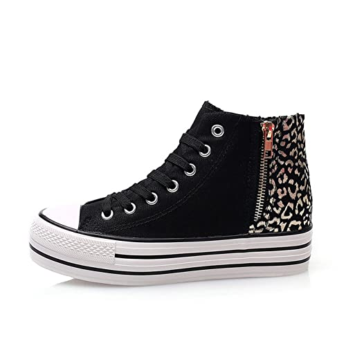 zapatillas de Cremallera Lateral/Versión Coreana en Verano y otoño Plataforma de Ocio con Zapatos