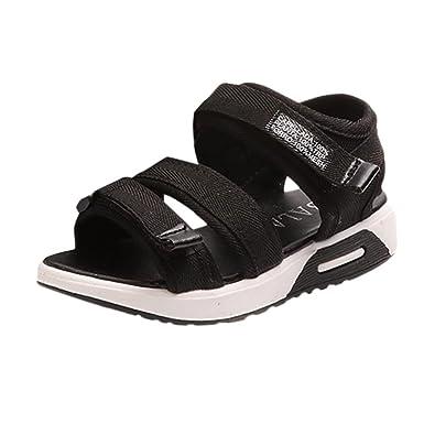 669da1189b5 Axinke Kids Girls Casual Open-toe Summer Canvas Platform Sport Sandals (9 M  US