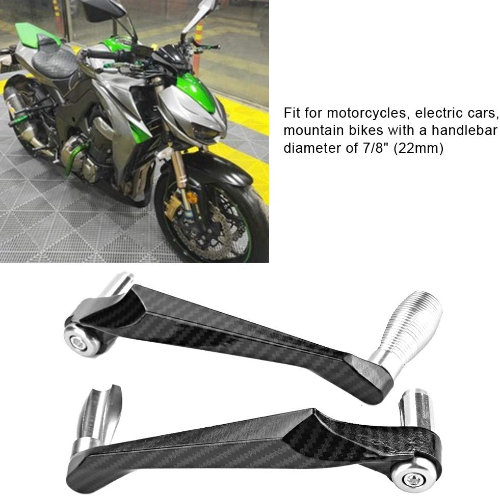 Hlyjoon 2Pcs Motocicleta Manillar Protector Manoplas Universal 7 8in 22mm Aluminio Moto Freno Embrague Palanca Manija Protector Anti-ca/ída Mano Cepillo Bar Protecci/ón Conjunto #1