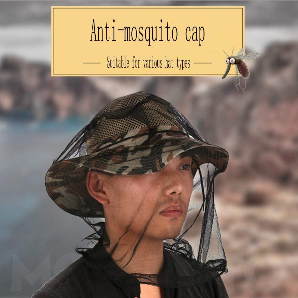 HOTEU Testa//Faccia Zanzariera Cappuccio Maschera-zanzara Anti-zanzara Adatto per La Pesca Allaperto di Api E Zanzare Anti-zanzare
