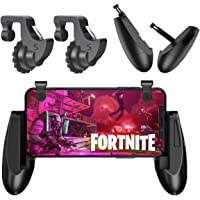 [4 Triggers] Fortnite PUBG Mobile Controller - Sumyee Mobile Game Controller, Cellphone Game Trigger, Battle Royale L1R1 Sensitive Shoot and Aim Gift for Kids [New Version] (4 Triggers)