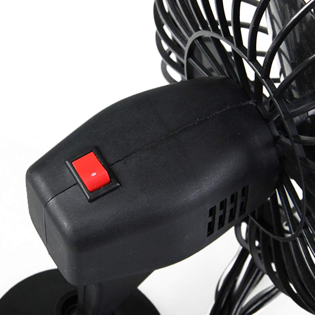 10,2 cm Autoventilator Sommer-Ventilator Fahrzeugk/ühlung Bhty235 Luftk/ühler LKW 12 V Saugnapf