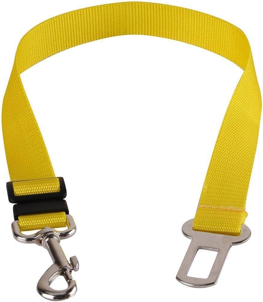 Rojo Cdet Cintur/ón de Seguridad para Perros Ajustable Duradero cintur/ón Accesorios para autom/óviles para Perro Cachorro Gato Gata Mascotas Seatbelt