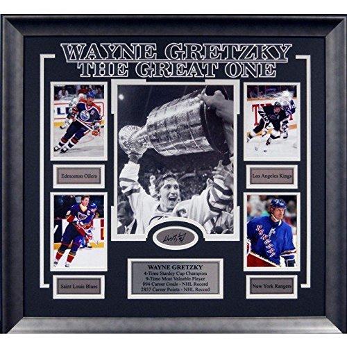 Wayne Gretzky Career Collage Framed Photo w/Laser Signature