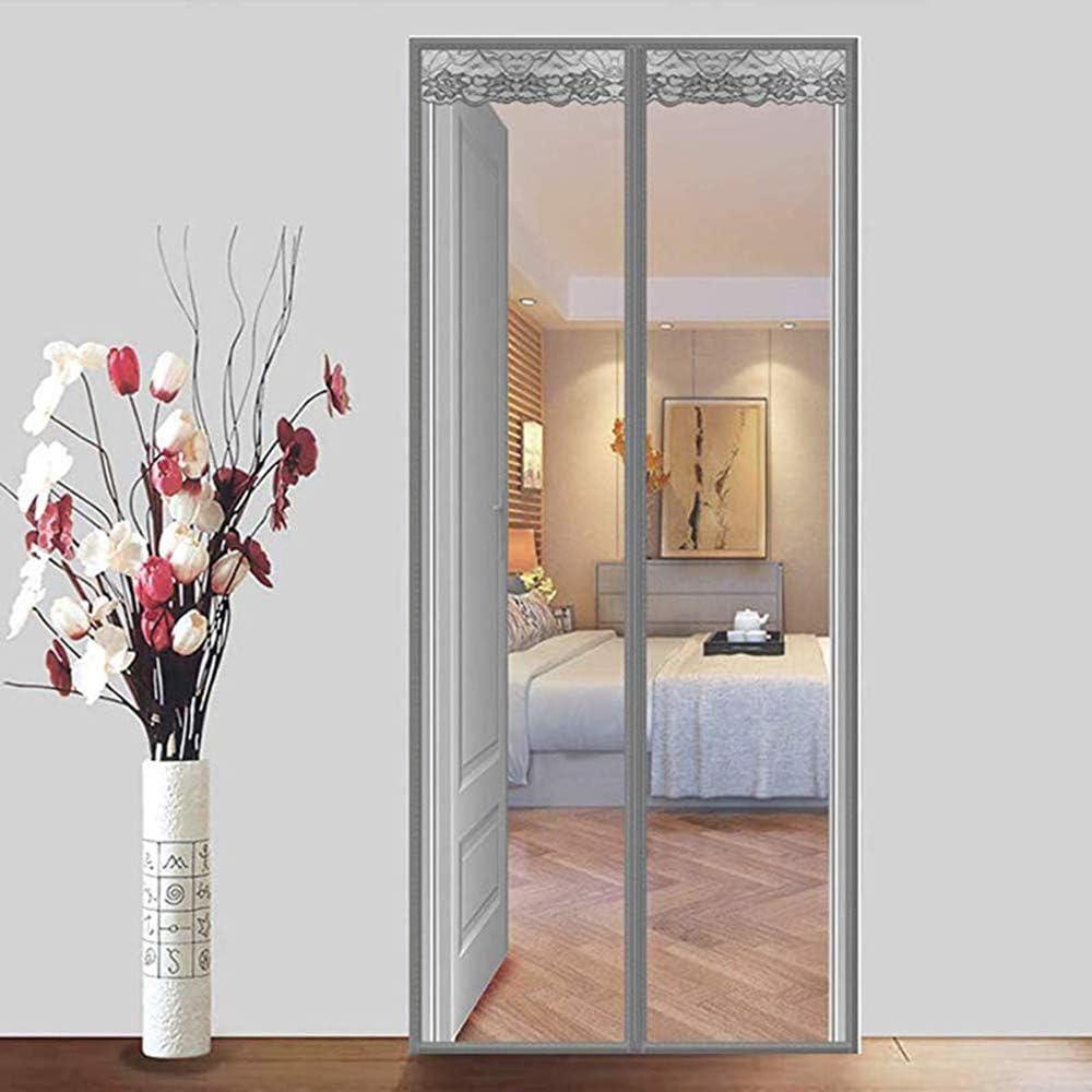 Zhoumin Puerta mosquitera magnética con Cortina de Malla para ...