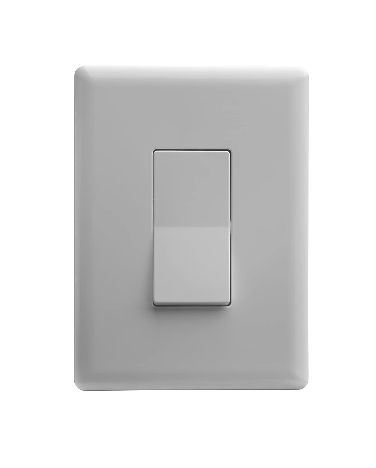 Home Automation Lighting, ZWAVE Plus Smart Switch by Ecolink, Lighting Control, White Single Rocker Style Light Switch Design (PN - SDLS2-ZWAVE5)