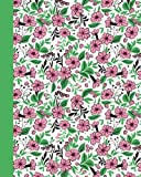 Journal: Field of Flowers (Green and Pink) 8x10 - LINED JOURNAL - Journal with lined pages - (Diary, Notebook) (8x10 Flowers Lined Journal Series)
