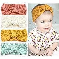 Urbun Baby Girls Headbands Wool Knitting Fabrics Turban Hairbands for Kids (4...