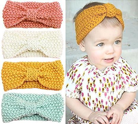 Amazon Urbun Baby Girls Headbands Wool Knitting Fabrics Turban
