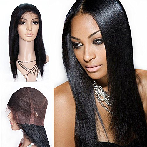 Betty's Full Service Costumes (Mike & Mary Top 7A All Handmade Human Hair Full Lace Wigs Straight Color #1b for Black Women Brazilian Virgin Human Hair (20inch, #1b off black))