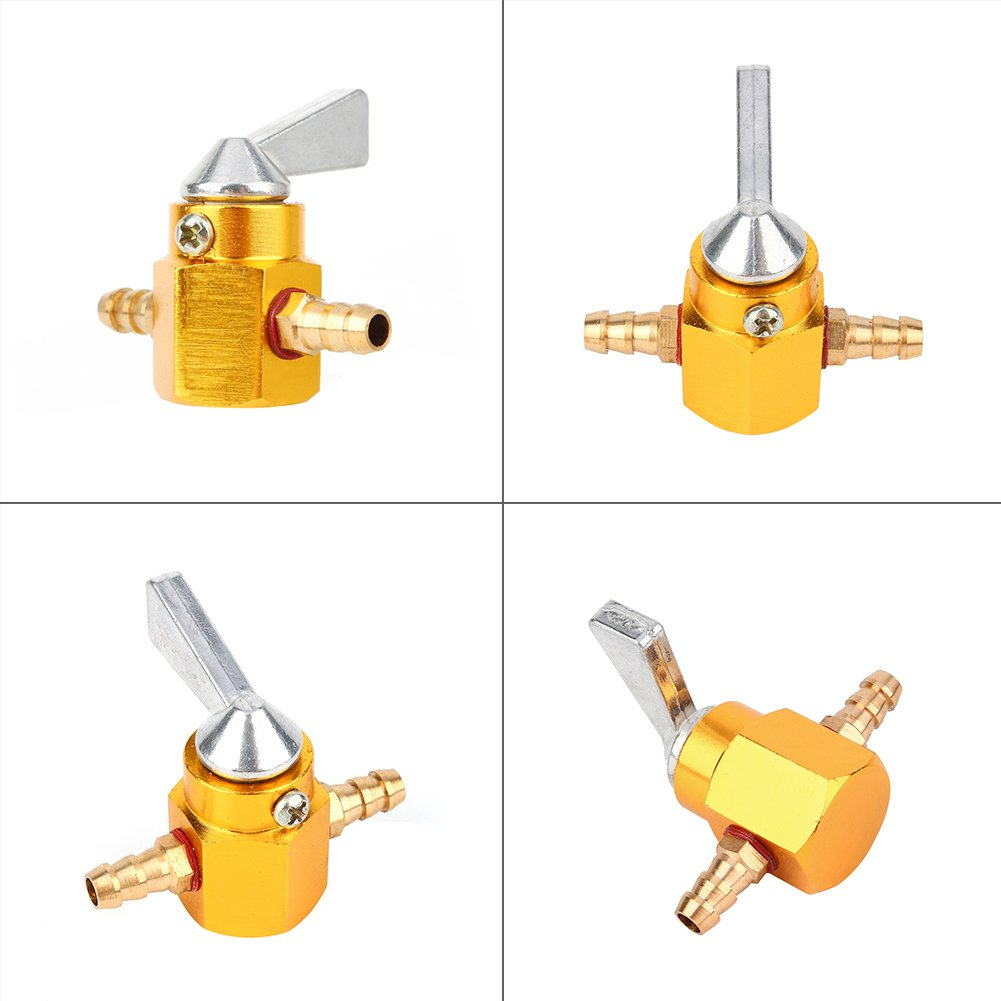 6mm 1//4 Inch Gold Petrol Gas Tank Fuel Tap Keenso Gas Petrol Fuel Tap 1//4 Inline Petcock Valve for Pit Dirt Motorcycle Motocross Bike ATV Quad