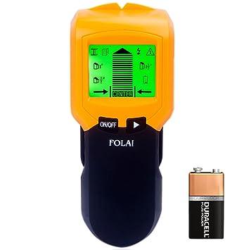 Detector de metales con pantalla LCD, cable de CA, detector de madera FOLAI: Amazon.es: Bricolaje y herramientas