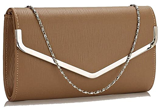 4035eb07f98 Stunning Luxury Dark Cream Nude Large Flap Purse Clutch Bag | ON ...