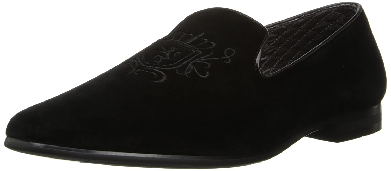 Mens 17603 Slip-On Loafer,9.5 D(M) US,Black Gold Giorgio Brutini