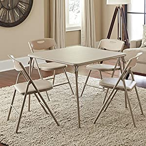 Cosco Products 5-Piece Folding Table and Chair Set by Cosco Products