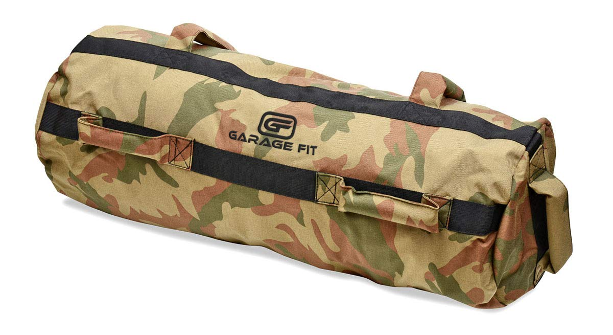 Garage Fit Heavy Duty Workout Sandbags with Rubber Handle for Fitness, Exercise, Military Sandbags, Weighted Bags, Heavy Sand Bags, Weighted Sandbag, Fitness Tactical Sandbags (Rubber Core Handle)