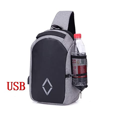 Amazon.com | Hot Sale Men Chest Back Pack Bag vintage ...