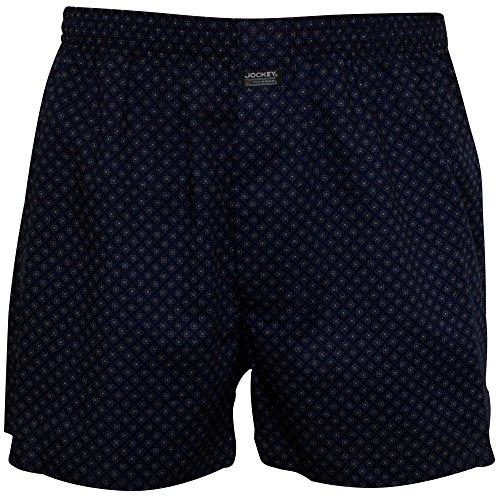 Stripe Short Fine (Jockey Men's Striped Cotton Modal Jersey Boxer Short, Blue Small Blue Fine Stripes)