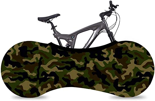 UK SELLER BICYCLE COVER SOCK VELO CYCLING PROTECTION WHEEL INDOOR