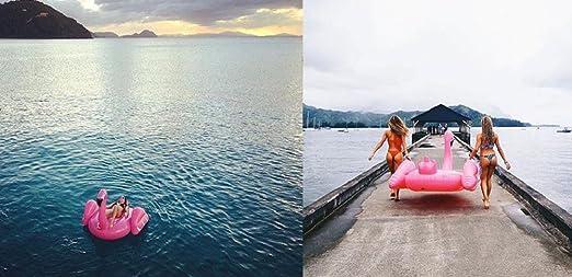 Color Dreams Colchoneta flotador gigante playa piscina Flamenco Flamingo Fucsia: Amazon.es: Juguetes y juegos