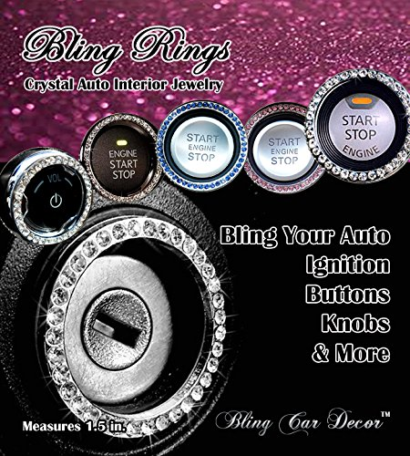Bling Car Decor Crystal Rhinestone Car Bling Ring Emblem