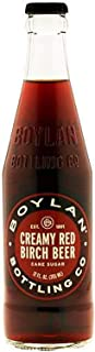 product image for Boylan Bottling Pure Cane Sugar Soda Pop, Creamy Red Birch, 12 oz Glass Bottles (Pack of 12)