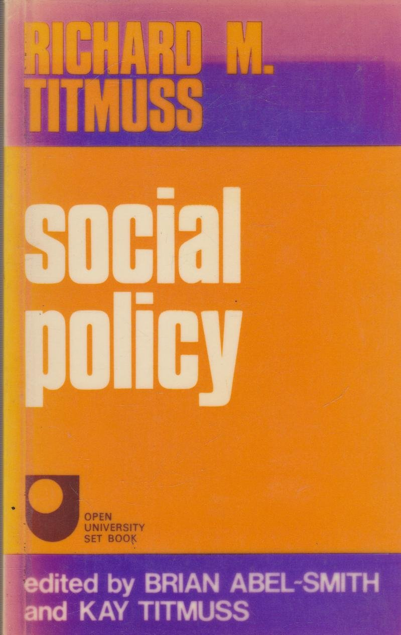 essays on the welfare state co uk richard m titmuss social policy an introduction