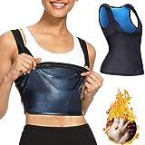 Nigecue Slimming Workout Tank Top for Women Weight Loss, Sauna Sweat Workout Body Shaper, Neoprene-Free Yoga Vest, Sauna…