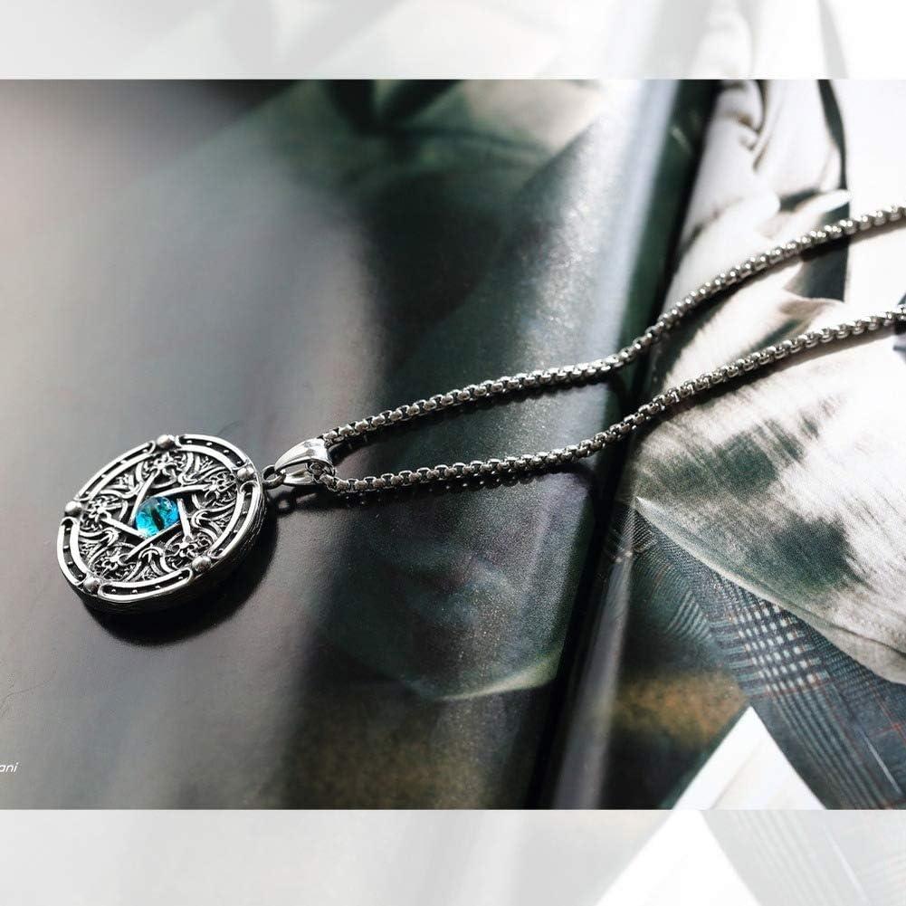 Wyanger Fashion Titanium Steel Necklace Vintage Punk Hip Hop Mens Necklace