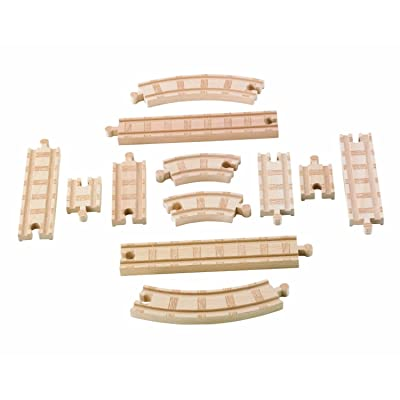 Fisher-Price Thomas & Friends Wooden Railway, Straight and Curved Expansion Track: Toys & Games