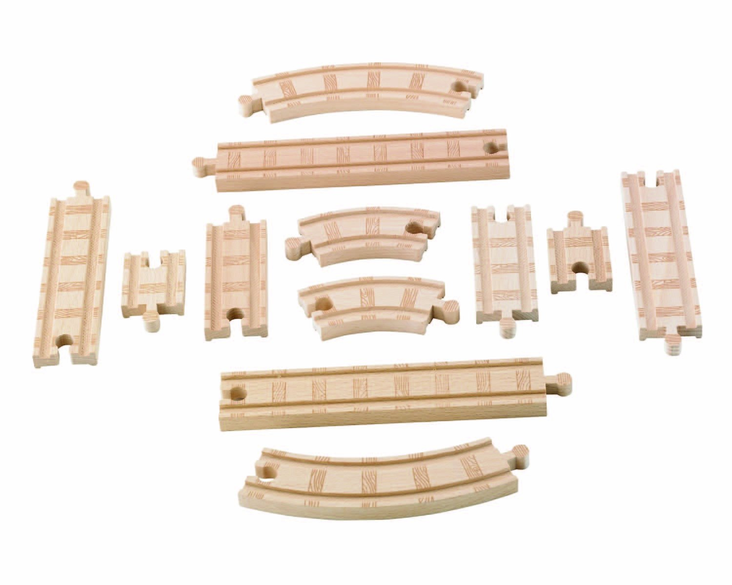 Thomas & Friends Fisher-Price Wooden Railway, Straight and Curved Expansion Track