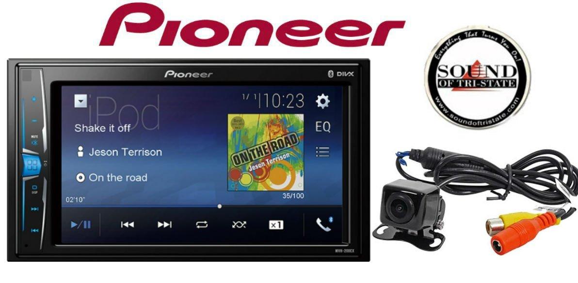 Pioneer MVH-200EX 6.2'' Digital Multimedia Video Receiver & Back Up Camera & SOTS Freshener