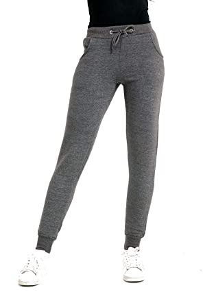 57f0eb61 LADIES WOMENS DRAWSTRING SWEATPANTS JOGGERS TRACKSUIT BOTTOMS FLEECE SPORTS  TROUSERS (S / Small, Charcoal