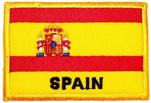 Ohrong - Parche bordado de la bandera nacional de España con ...