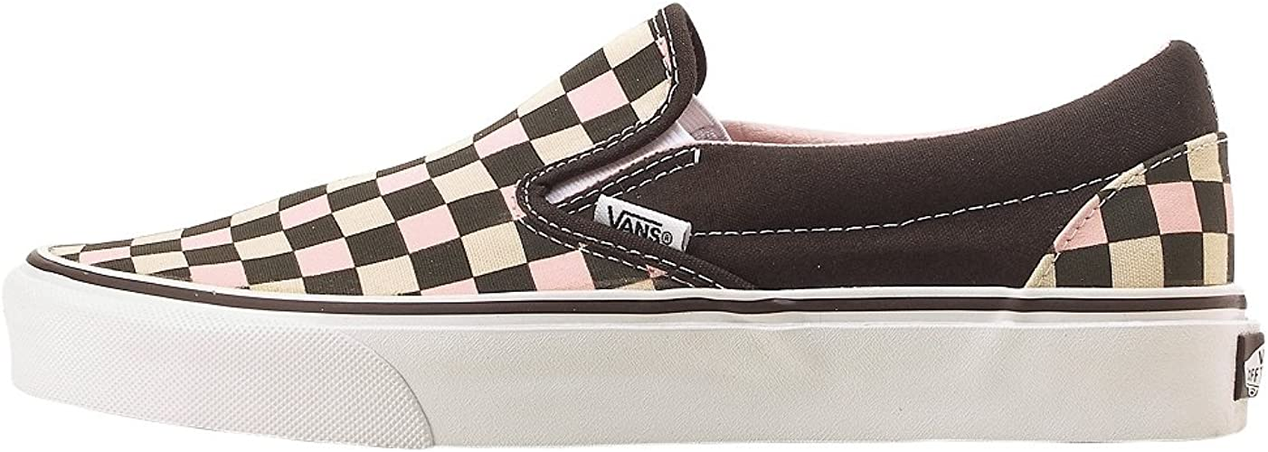 Vans Classic Slip on CoffeeChintz Rose Multi Checkerboard