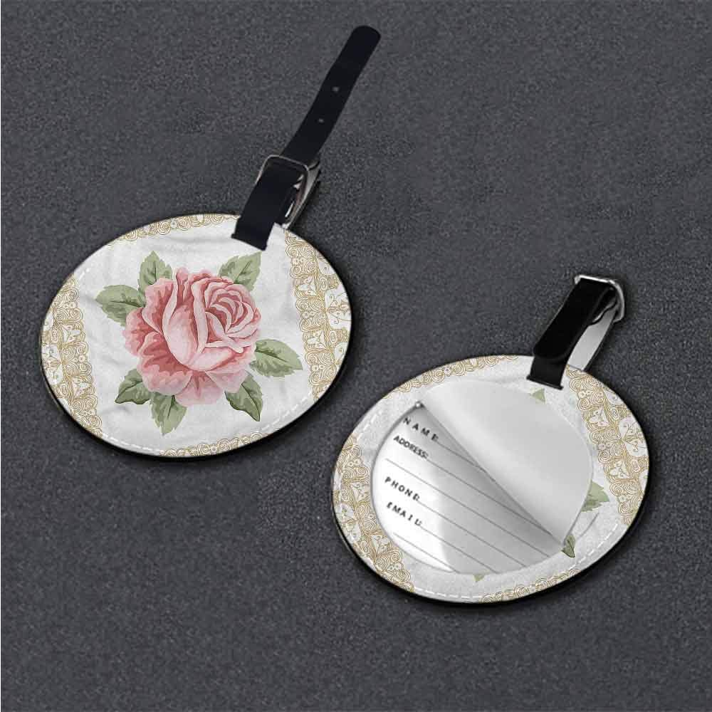 Favorite brand luggage tags Floral,Foliage Leaves Vibrant Name Tags